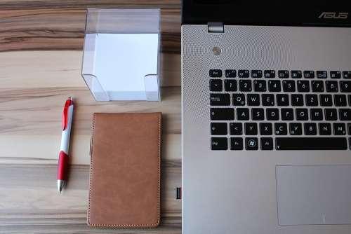 Laptop Notebook Desk Workplace Pen