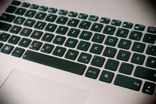 Laptop Keyboard Notebook Close Up Keys