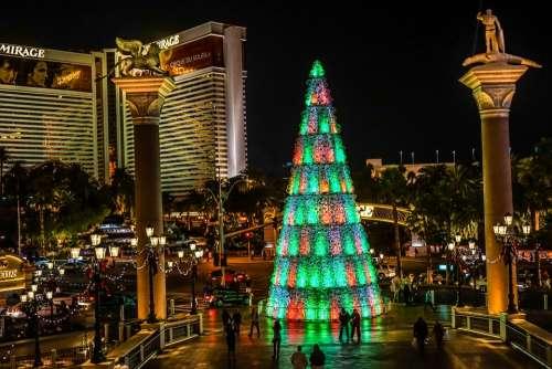 Las Vegas Christmas Tree Architecture Building