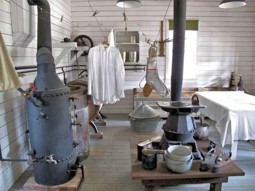 Laundry Old Pioneers Alberta Canada Museum