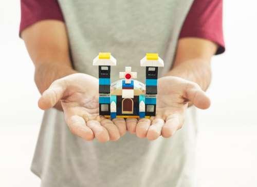 Lego Mount Play Pecinha Construction Church