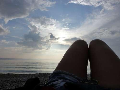 Legs Sea Sky Beach Summer Female Ocean People