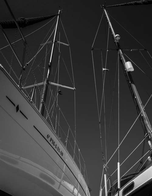 Leisure Sport Sail Sail Masts Rigging Perspective