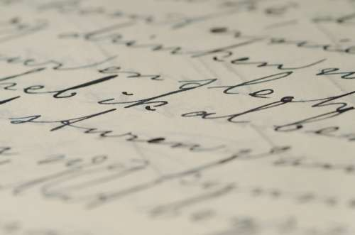 Letter Handwriting Written Ink Write Caligraphy