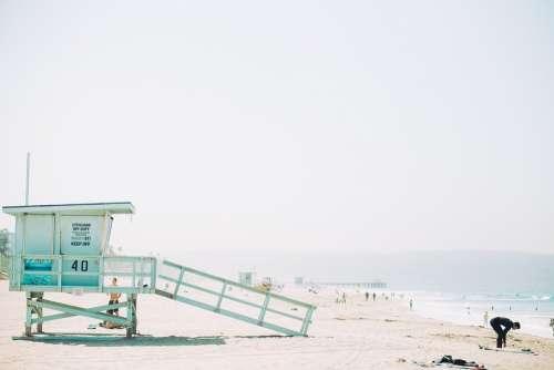 Lifeguard Shack Station Beach Safety Hut Shore