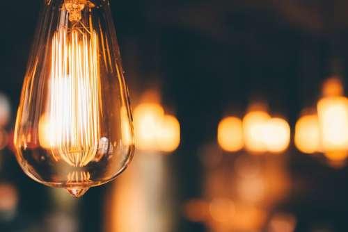 Light Bulb Hanging Lighting Electricity Energy