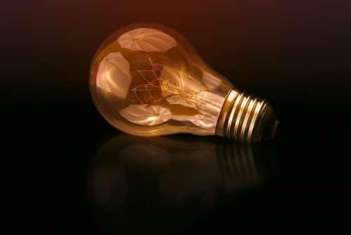 Light Light Bulb Idea Pear Current Shining Lamp