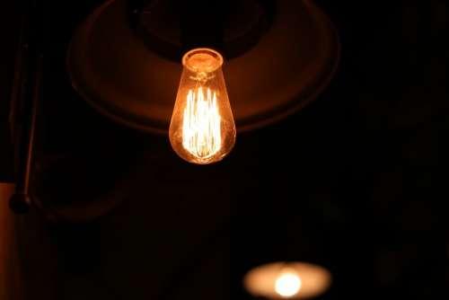 Light Bulb Electricity Night Glow