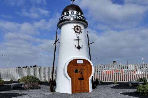 Lighthouse Sea Lighter Sea Wall Lantern Navigation