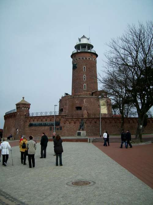 Lighthouse Kołobrzeg Baltic Sea Poland
