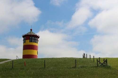 Lighthouse East Frisia Pilsum Otto Waalkes