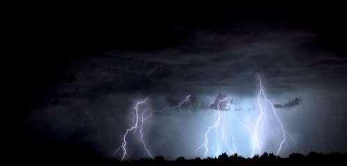 Lightning Storm Arizona Monsoon Lightning Storm