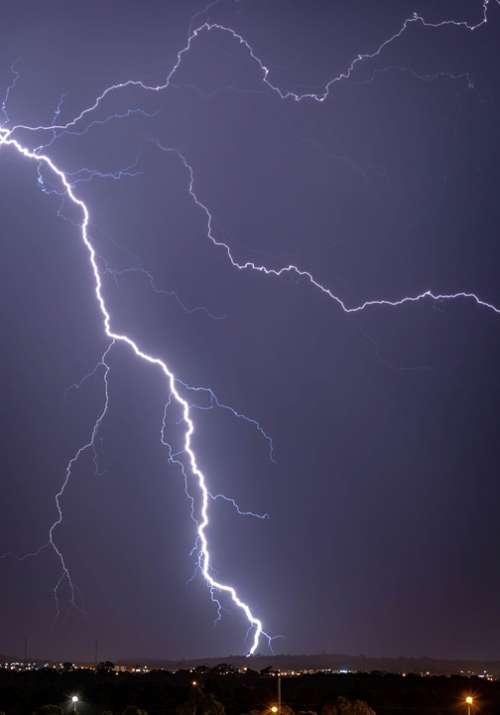 Lightning Strike Storm Thunderstorm Thunder