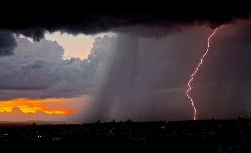 Lightning Lightning Bolt Thunderstorm Weather Storm