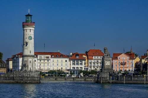Lindau Harbour Entrance Lake Constance Landmark