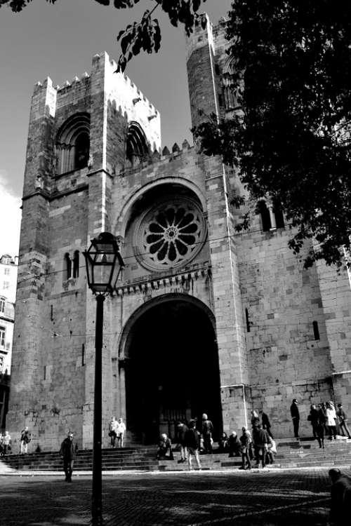 Lisbon Cathedral Architecture Church Landmark
