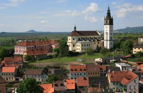 Litomerice Czech Republic City Church View