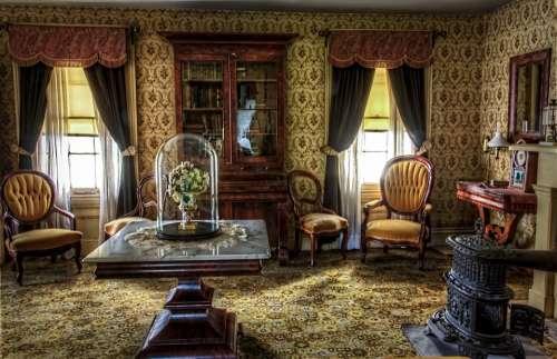 Living Room Victorian Historic Vintage Interior