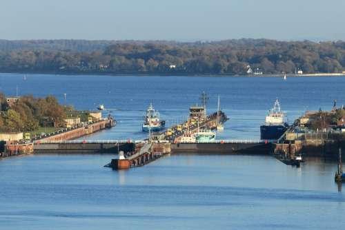 Lock Locks Kiel Northern Baltic Sea Channel Passage
