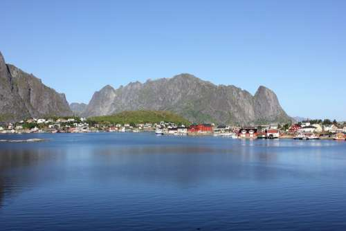 Lofoten Fishing Village Norway Sea Village