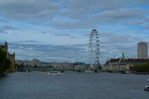 London Eye River Thames Skyline Attraction