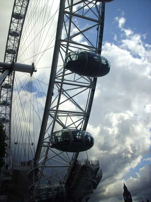London London Eye Clouds