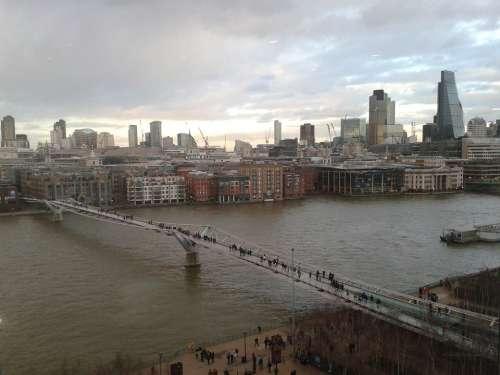 London Millennium Bridge England Landmark