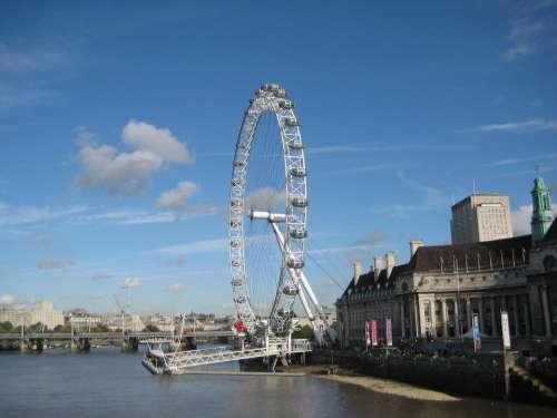 London Eye Ferris Wheel Landmark London