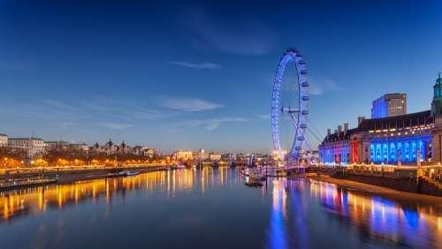 London Eye Ferris Wheel London England Landmark