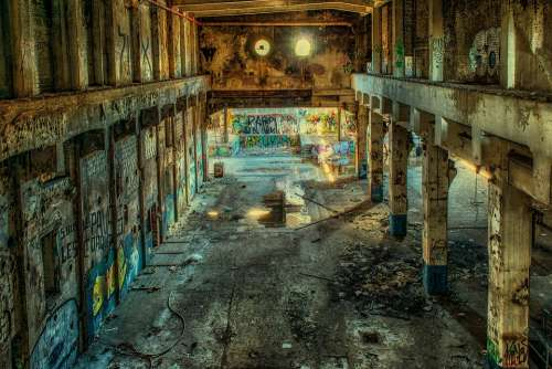 Lost Places Factory Hall Abandoned Lapsed