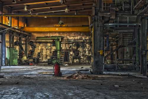 Lost Places Machines Old Factory Industry Broken