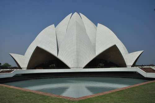 Lotus Temple India Bahai Faith Delhi Religion