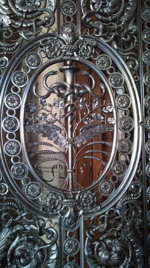 Louvre Paris France Ornate Door Silver Filigree