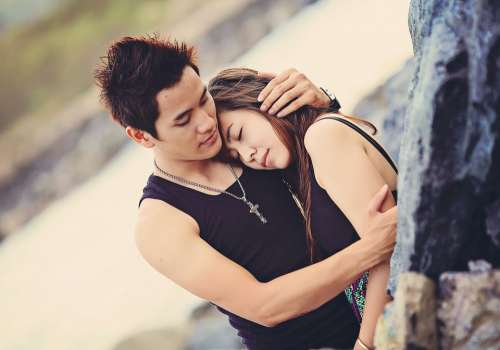 Love Couple Happy Hug Young People Man Romantic
