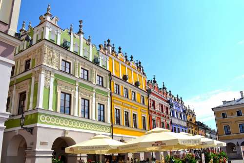 Lublin Rynek Poland City Architecture Summer