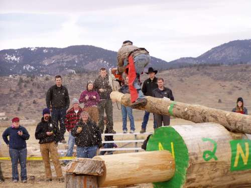 Lumber Jack Olympics Chainsaw Wood Competition