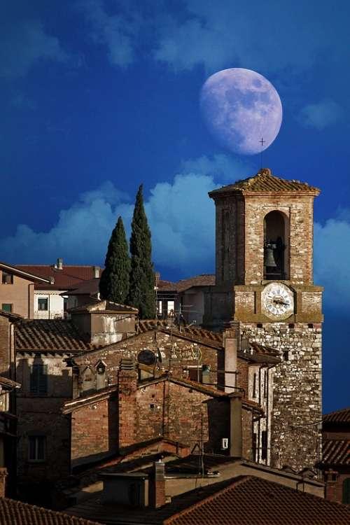 Luna Country Umbria Italy Sky Campanile