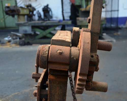 Machine Factory Rust Detail Dusty