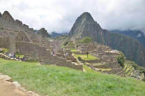 Machu Picchu Peru Inka Civilization Mountain Cusco
