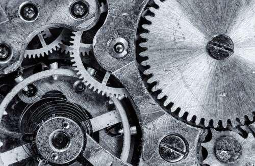 Macro Cogwheel Gear Engine Vintage Industrial