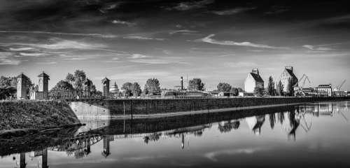 Magdeburg Science Port Panorama Elbe Port