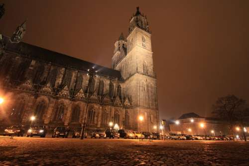 Magdeburg Dom Night Photograph