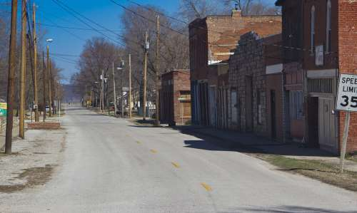 Main Street Street Small Town Town Road Old