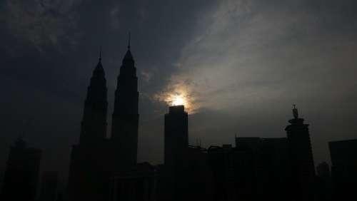Malaysia Kuala Lumpur Klcc Silhouette Dark Night