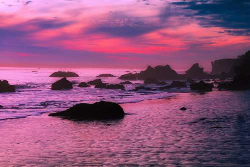 Malibu California Sunset Dusk Sky Clouds