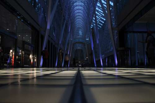 Mall Hall Huge Construction Interior Architecture