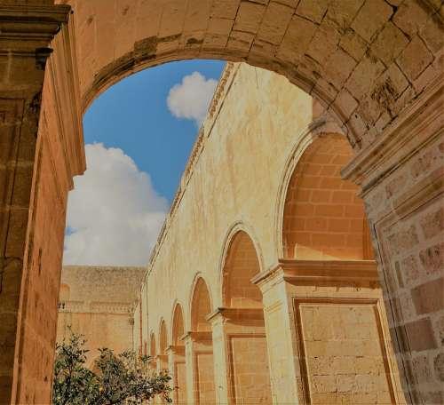 Malta Monastery Architecture Holy Religion Arcades