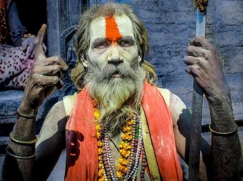 Man Hinduism Holy Man Sadu Hindu Person Culture