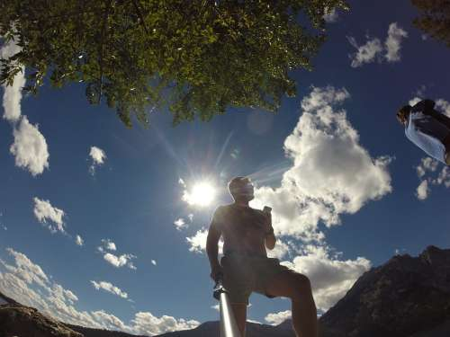 Man Photo Photographer Gopro Sky Looking Up View