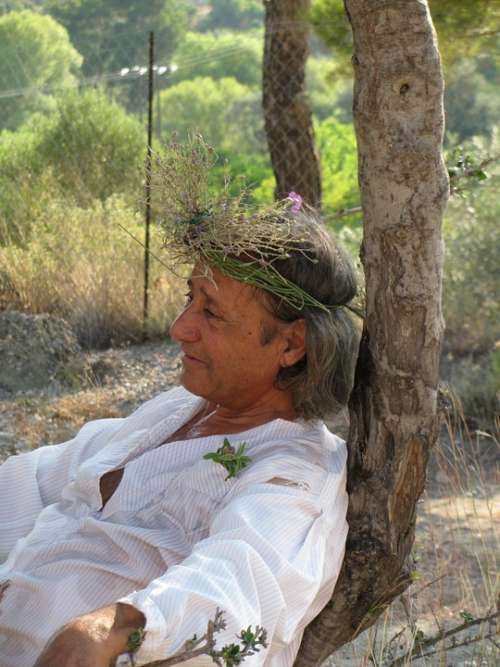 Man Senior Nature Grandfather People Relax Rest